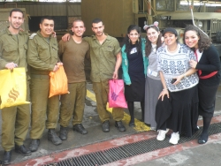 Volunteers with Soldiers