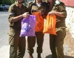 Soldiers with packages