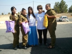 With soldiers