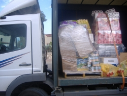Truck loaded with supplies for Southern victims of Hamas hostilities