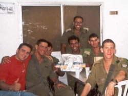 Visiting with paratroopers