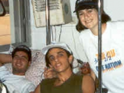 Visiting hospitalized soldiers