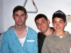 Visiting terror victim at Ein Kerem Hospital