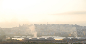 Baka Al-Garbiye - north central Israel Daily Garbage Burning