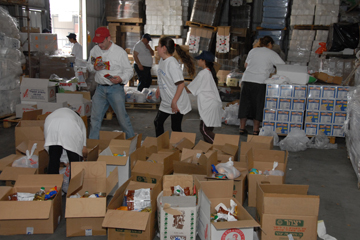 Assembling food packages