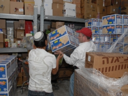 Unpacking boxes of matza