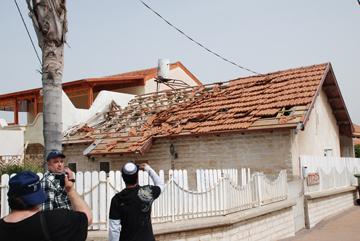Kassam destroyed house