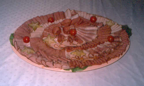 Deli platter for soldiers