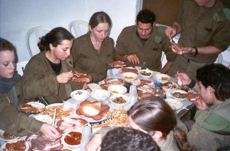 Feast for soldiers