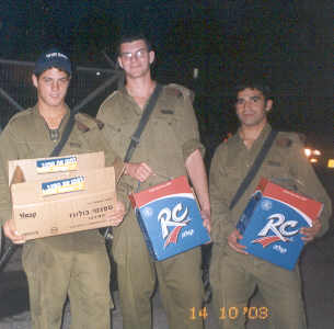 Satisfied soldiers