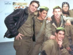 With soldiers on Chanukah