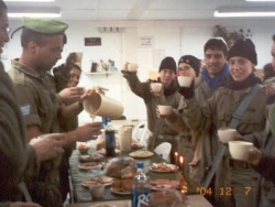 Chanukah with soldiers