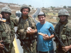 Distributing sandwiches to soldiers