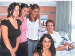 Visiting hospitalized victim of Northern hostilities